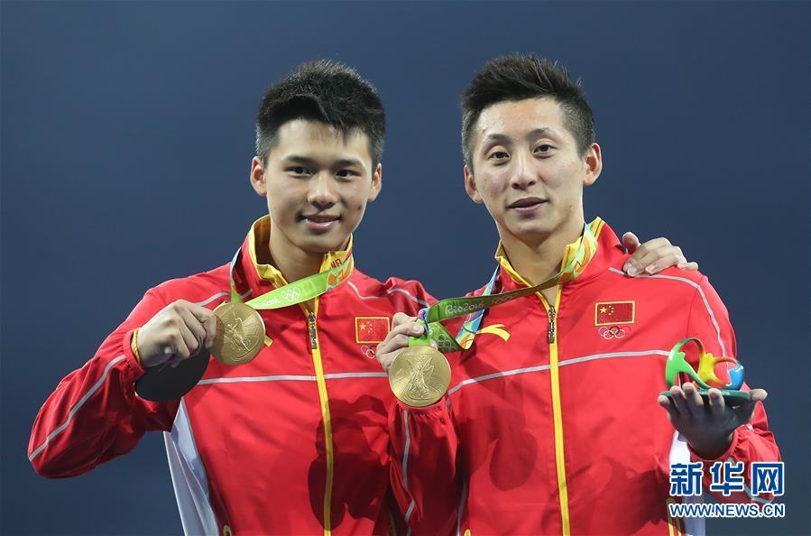 跳水男子双人十米台 林跃陈艾森巨大优势摘金