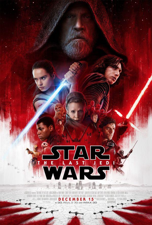 电影《星球大战:最后的绝地武士》海报(图片来自美国雅虎新闻网站)