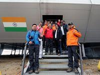 中国科考队访问印度巴拉提站