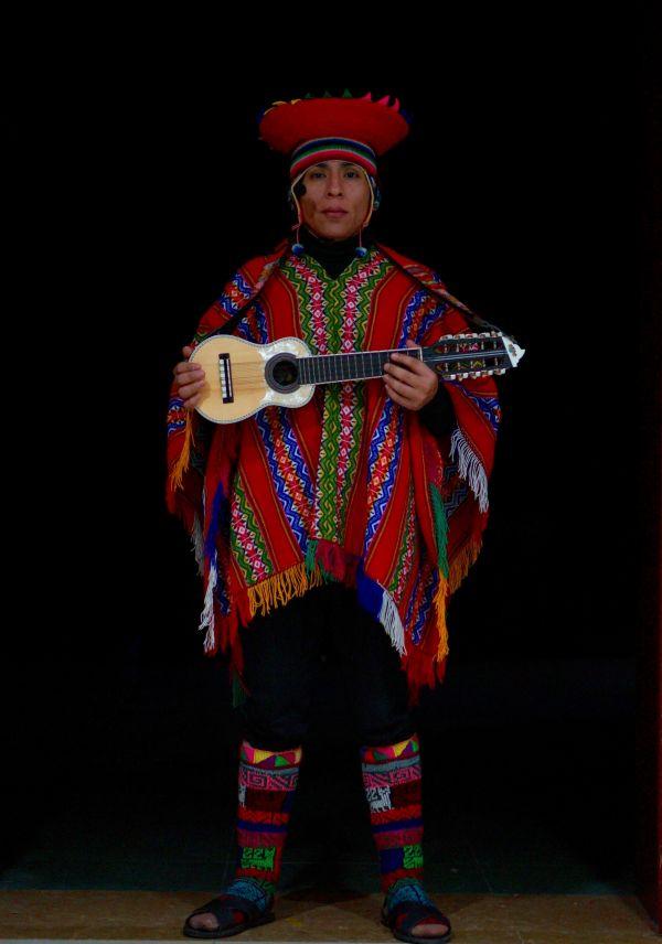 波兰籍印第安音乐人亚利桑德罗(赵曼君/摄)