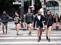 """旧金山举行""""不穿裤子搭地铁""""活动"""