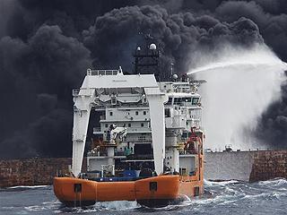 """上海海事局:""""桑吉""""轮不断发生爆燃 搜救与污染防控工作正在紧张进行"""