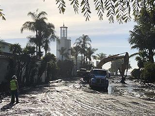 美国加州泥石流已造成17人死亡