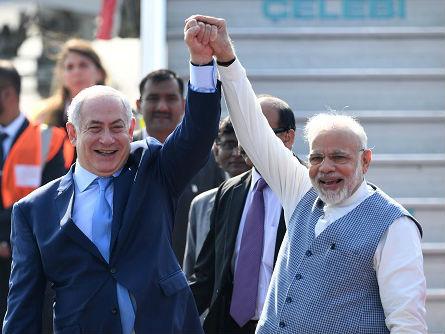 以色列总理15年来首访印度随行最大规模商业代表团