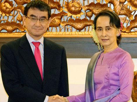 日本外相访问缅甸若开邦 日媒:不惜与欧美划清界限