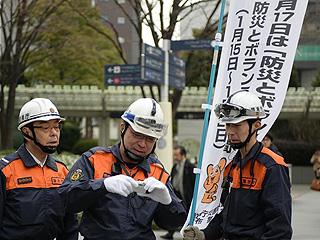 日本各地纪念阪神大地震23周年