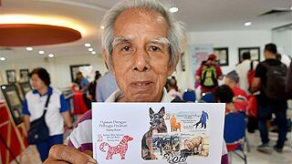 """马来西亚推出""""狗""""主题邮票迎接狗年"""