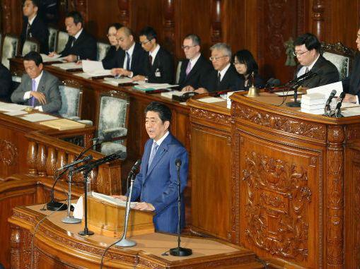 日媒:安倍第六次发表施政演说再喊修宪 还想改善中日关系