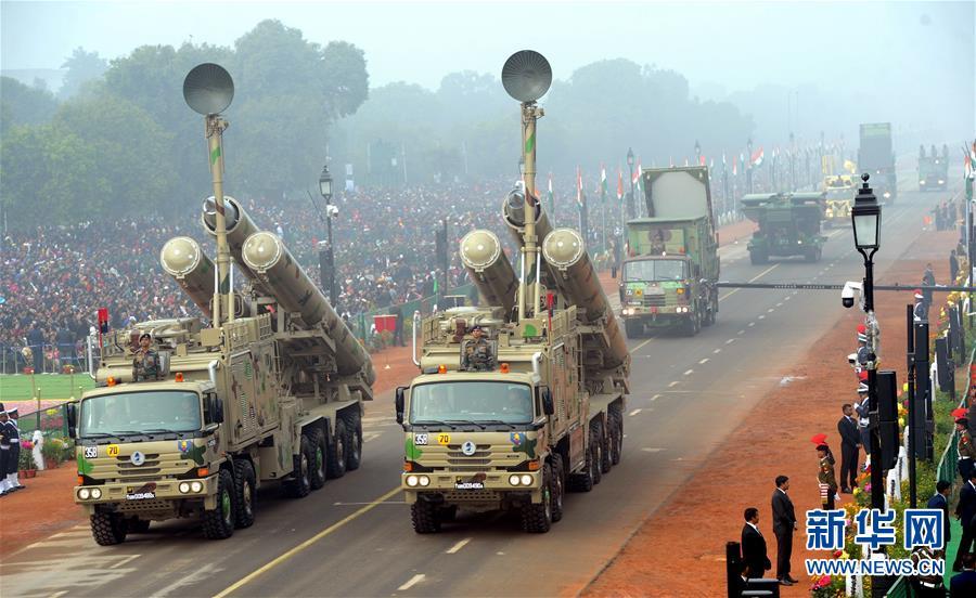 印度举行阅兵式庆祝第69个共和国日