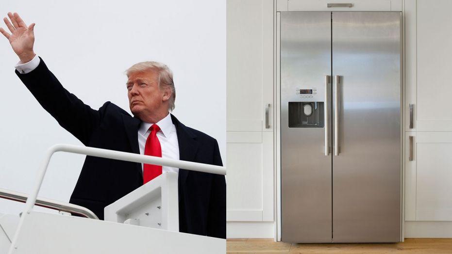"""奥巴马要换""""空军一号"""" 特朗普:不用,换个1.5亿的冰箱就好"""