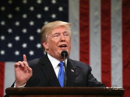 """特朗普国情咨文演说自夸政绩斐然 宣称""""新美国时刻""""来临"""