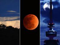 """""""超级月亮""""现身:天幕上演月全食美景"""