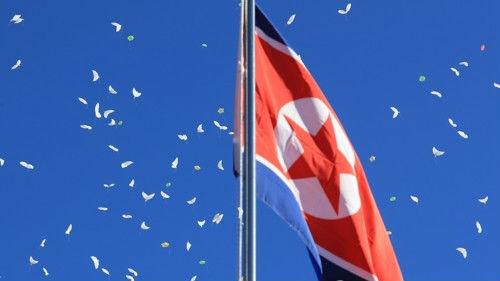 外媒:朝鲜冬奥代表团抵韩 平昌奥运村破例升起朝鲜国旗