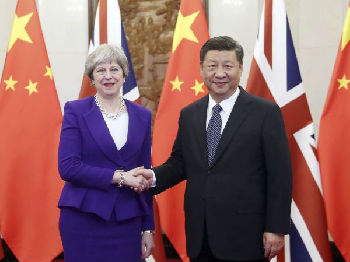 """习近平会见英国首相 中英打造""""黄金时代""""增强版"""
