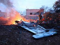俄军一架苏-25战机在叙利亚被击落