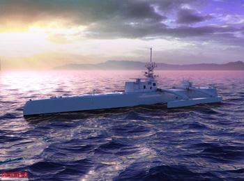 """世界最大无人舰交付美海军 或将成为潜艇""""克星"""""""
