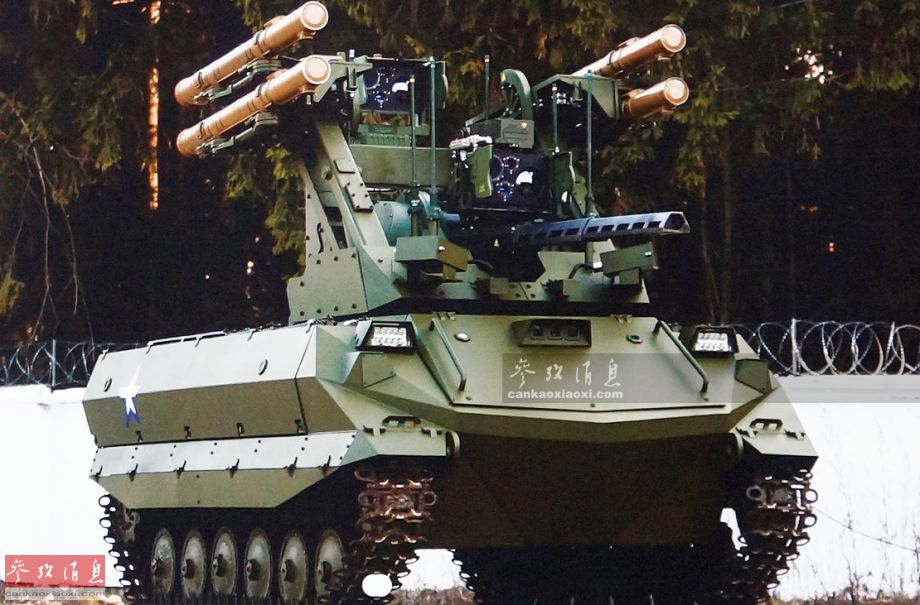 火力可灭坦克武直!俄曝无人战车打靶