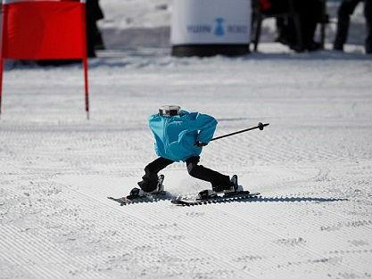 韩国举办机器人滑雪赛 英媒:可媲美平昌冬奥会