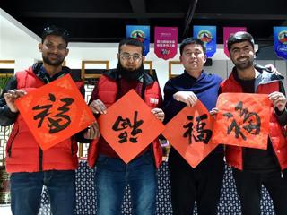 28国在华留学生在中原乡村欢度春节