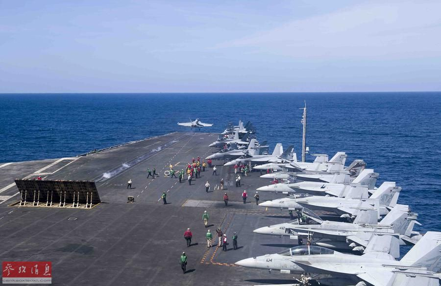 伴随监视!中国战舰监视美核航母训练
