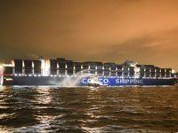 希腊比港首迎2万标准箱级集装箱船
