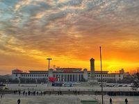 美丽的北京日出