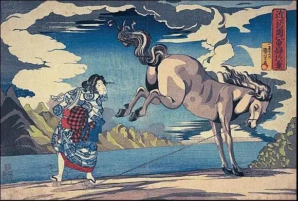 11莫奈从16岁开始收集浮世绘,他曾拥有12幅歌川国芳作品。图为歌川国芳的《勇敢妇人》。