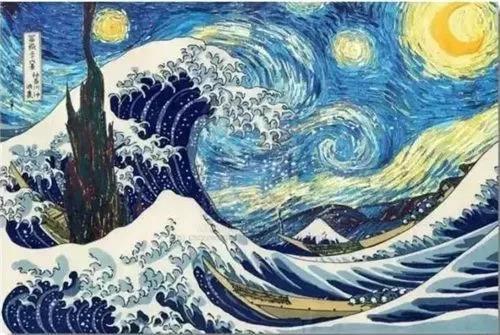 12有人将风格相似的浮世绘作品与梵高画作合成一张
