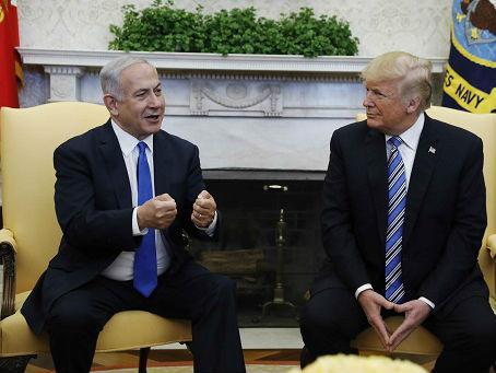 特朗普与以总理在白宫大秀亲密 欲赴耶城为新使馆剪彩