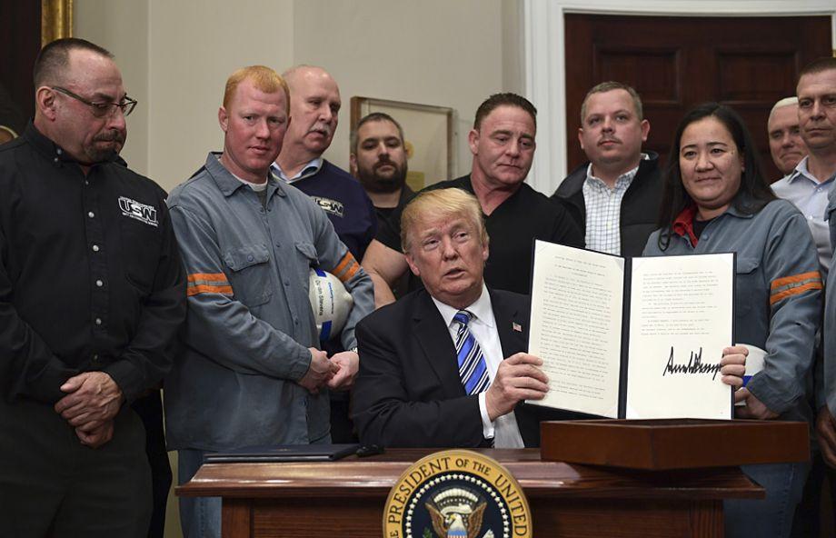 美国宣布对进口钢铁和铝产品征收高关税