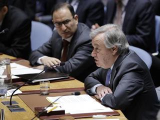 古特雷斯:要求叙利亚停火决议未能执行