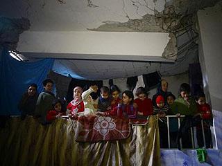 东古塔避难所的叙利亚人