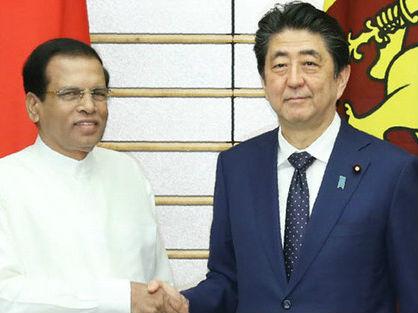 日媒称安倍与斯里兰卡总统谈海洋安保 有意针对中国