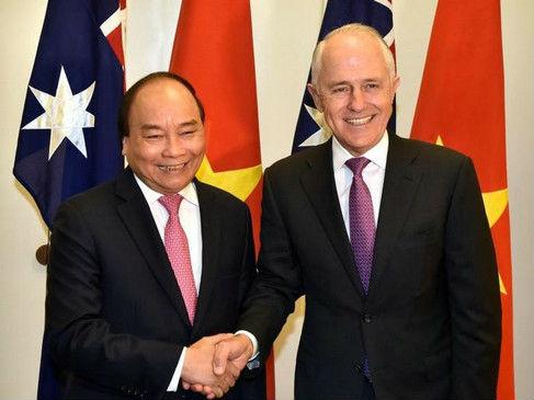 """日媒:澳越两国确立""""战略伙伴关系"""" 提升防务和贸易合作"""