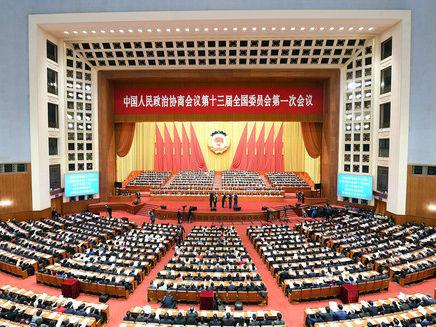 境外媒体关注全国政协十三届一次会议闭幕
