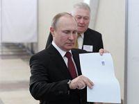 现任总统普京得票率在总统选举中领先