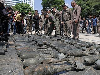 泰国发现百余枚老炸弹