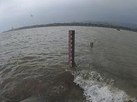 长沙雨急 湘江水涨
