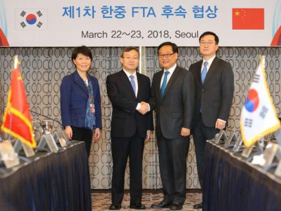 韩媒:中韩开启升级自贸协定谈判 为两国提供更多商机