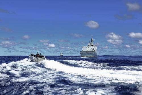美舰擅闯南海岛礁遭驱离 我国防部回应