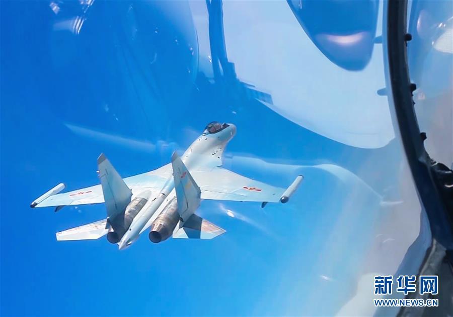 中国空军轰-6K等多型战机远洋训练