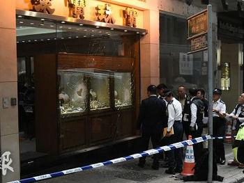 港媒:香港中环一珠宝店发生劫案 2000万港元珠宝被抢