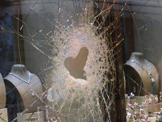 香港中环一珠宝店发生劫案