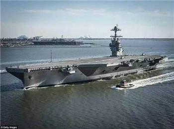 """美军将对""""福特""""号航母进行抗冲击测试:曾为赶工期打算省掉"""
