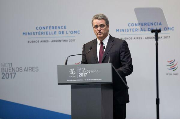 """世贸总干事警告贸易战危害 称WTO进入""""最难时刻"""""""