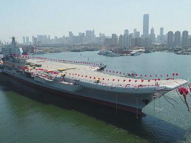 美媒猜测中国国产航母或于海军建军节海试