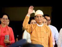 缅甸新总统温敏宣誓就职