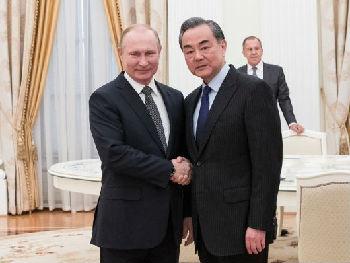 中俄元首年内将多次会晤 普京称如有必要随时沟通