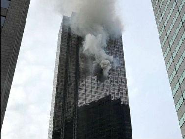 美媒:纽约特朗普大厦火灾一死数伤 特朗普发推感谢消防员灭火