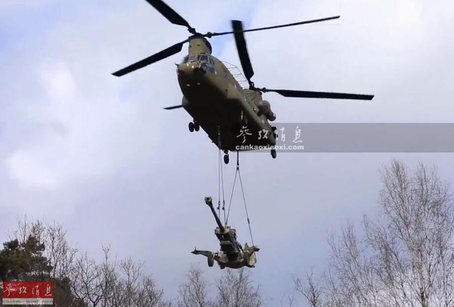"""""""空中炮连""""战力超炮营!CH47吊炮作战"""